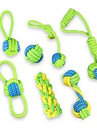 economico -Giocattoli dentizione gatti Giocattoli dentizione cani Corda Giocattoli di decompressione corda intrecciata Kit Tessuto Per Cane Cagnolino
