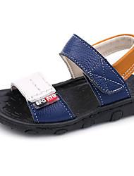 Недорогие -Мальчики Обувь Кожа Весна / Осень Удобная обувь / Обувь для малышей Сандалии для Белый / Черный / Синий