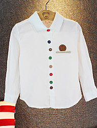 preiswerte -Jungen Hemd Solide Andere Frühling Herbst Langarm Weiß