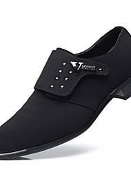 baratos -Homens Sapatos formais Couro Ecológico Primavera / Outono Conforto Mocassins e Slip-Ons Preto / Casamento