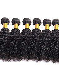 cheap -Brazilian Hair Curly Virgin Human Hair Natural Color Hair Weaves 6 Bundles 8-26 inch Human Hair Weaves Natural Black Human Hair Extensions