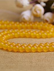 baratos -Jóias DIY 38 pçs Contas Cristal Amarelo Redonda Bead 1 cm faça você mesmo Colar Pulseiras