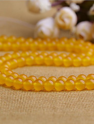 cheap -DIY Jewelry 38 pcs Beads Yellow Round Crystal Bead 1 cm DIY Bracelet Necklace