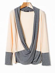 preiswerte -Einfarbig Alltag Pullover Langärmelige Kapuze Frühling Herbst