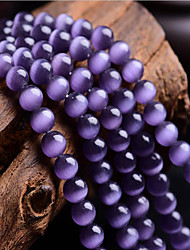 cheap -DIY Jewelry 46 pcs Beads Synthetic Gemstones Purple Round Bead 0.8 cm DIY Necklace Bracelet