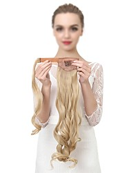 cheap -Clip In Ponytails Wrap Around Hair Piece Hair Extension Wavy