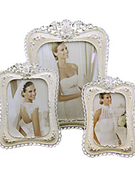cheap -Antique Classic European Style Rhinestone Alloy Silver Electroplated Emboss Picture Frames Wall Decorations, 1pc