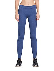 cheap -Women's 1pc Running Tights - Sky Blue, Blue, Grey Sports Solid Colored Tights / Leggings Yoga, Fitness, Gym Activewear Quick Dry, Butt Lift Stretchy