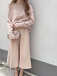 Недорогие -Жен. Длинный рукав Пуловер - Однотонный Полоски