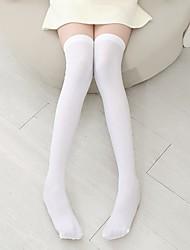 Недорогие -2шт Дети Девочки Простой Однотонный Другое Белье / носки Белый