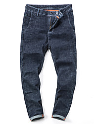 cheap -Men's Street chic Plus Size Cotton Straight Jeans Pants - Solid Colored
