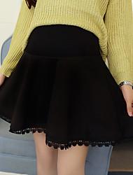 preiswerte -Damen Retro Alltag Mini Röcke A-Linie,Baumwolle Solide Winter Herbst