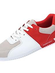Obuv PU Jaro Podzim Pohodlné Atletické boty pro Sportovní Ležérní Černá Červená Modrá