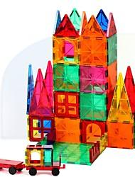 Недорогие -Магнитный конструктор Магнитные плитки Конструкторы 60 pcs Архитектура трансформируемый Старинный Мальчики Девочки Игрушки Подарок