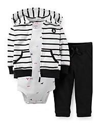 cheap -Baby Boys' Daily Check Clothing Set,Cotton Spring Fall Casual Long Sleeve White