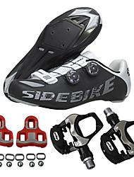 Недорогие -SIDEBIKE Муж. Обувь для велоспорта Обувь для шоссейного велосипеда Нейлон, стекловолокно, воздушное отверстие,противоскользящие протекторы Шоссейные велосипеды Велосипедный спорт / Велоспорт