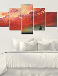 preiswerte -Gerollte Leinwand Klassisch, Fünf Panele Segeltuch Vertikal Panorama Druck Wand Dekoration Haus Dekoration