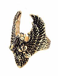 preiswerte -Herrn Statement-Ring Gold Silber Rostfrei Flügel Freizeit Cool Alltag Strasse Modeschmuck