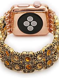 Недорогие -Ремешок для часов для Apple Watch Series 3 / 2 / 1 Apple Дизайн украшения Металл Повязка на запястье