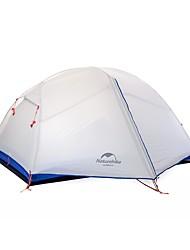 preiswerte -Naturehike 2 Personen Zelte für Rucksackreisen Doppellagig Stange Dom Camping Zelt Außen Regendicht, Rasche Trocknung, Windundurchlässig für >3000 mm Nylon, Beschichtetes Gewebe 210*135*100 cm