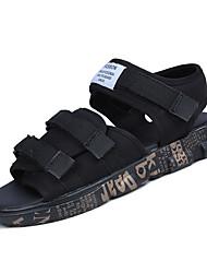 abordables -Homme Chaussures Tissu Eté Semelles Légères Sandales Noir et Or / Noir / blanc