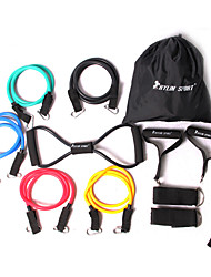 cheap -Exercise Bands/Resistance bands Fitness Set Exercise & Fitness Gym Strength Training Rubber -