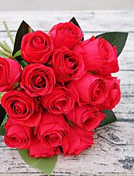 Недорогие -Искусственные Цветы 18 Филиал Пастораль Стиль Розы Букеты на стол