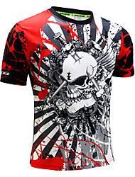 cheap -Men's Running T-Shirt Short Sleeves Quick Dry Anatomic Design Ultraviolet Resistant High Breathability (>15,001g) Breathable Sweat-wicking