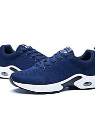 Недорогие -Муж. обувь Флис Весна / Лето / Осень Удобная обувь Туфли на шнуровке Черный / Серый / Синий / Замшевые туфли