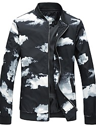 cheap -Men's Plus Size Jacket - Contemporary Stand