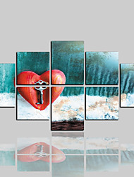 cheap -Canvas Print Comtemporary Classic Modern,More than Five Panels Canvas Horizontal Print Wall Decor Home Decoration