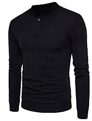 cheap -Men's Long Sleeves Sweatshirt - Solid Color