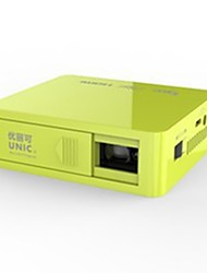 Недорогие -UNIC U50 DLP Мини-проектор Светодиодная лампа Проектор 800 lm Поддержка 1080P (1920x1080) 14-150 дюймовый Экран / FWVGA (854x480)