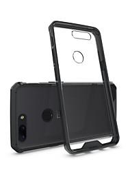 billiga -fodral Till OnePlus 5 / OnePlus 5T Stötsäker / Genomskinlig Skal Enfärgad Hårt Akrylfiber för One Plus 5 / OnePlus 5T / One Plus 3T