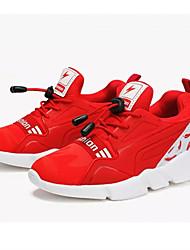 preiswerte -Mädchen Schuhe Tüll Sommer Komfort Flache Schuhe Walking für Normal Schwarz Rot Blau