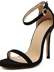 preiswerte -Damen Schuhe PU Frühling Sommer Komfort Pumps Sandalen Stöckelabsatz für Normal Gold Weiß Schwarz Rot Hautfarben
