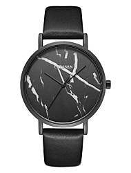 Недорогие -CADISEN Жен. Кварцевый Наручные часы Спортивные часы Японский Защита от влаги Повседневные часы Кожа Группа На каждый день Cool Черный