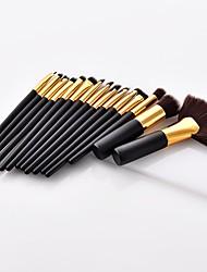 15pcs Kist za puder Kist za tuš Kist za rumenilo Četka Setovi Synthetic Hair Cijeli Pokrivenost Bukovina Lice Nos