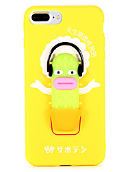 cheap -Case For Apple iPhone 8 Plus iPhone 7 Plus Ring Holder Back Cover Cartoon Soft TPU for iPhone 8 Plus iPhone 7 Plus
