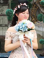 """Недорогие -Свадебные цветы Букеты Свадьба Шёлковая ткань рипсового переплетения 11,8""""(около 30см)"""