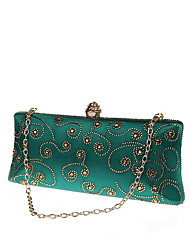 cheap -Women's Bags Metal Evening Bag Crystals for Wedding / Event / Party Blue / Green