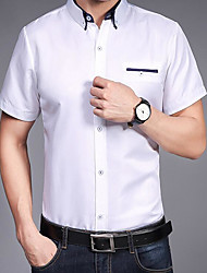 cheap -Men's Simple Shirt - Solid Colored