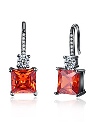 cheap -Women's Crystal / Cubic Zirconia Drop Earrings / Hoop Earrings - Zircon, Gold Plated Sexy Lady, Fashion Light Red For Wedding / Daily