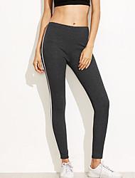 abordables -Mujer Ropa Cotidiana Estampado Legging - Bloques Media cintura