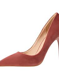 abordables -Femme Chaussures Velours Printemps Eté Confort Escarpin Basique Chaussures à Talons Talon Aiguille Bout pointu Bout fermé pour Soirée &