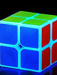 baratos -Rubik's Cube Luminoso Glow Cube 2*2*2 Cubo Macio de Velocidade Cubos mágicos Cubo Mágico Brinquedos de escritório O stress e ansiedade