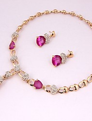 Недорогие -Жен. Комплект ювелирных изделий - Этнический, Мода Включают Ожерелья-цепочки Розовый Назначение Для вечеринок / Подарок