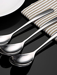 economico -Tinta unita Acciaio inossidabile Cucchiaio da portata, 3 pezzi