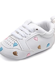 cheap -Baby Shoes Leatherette Spring Fall Crib Shoes First Walkers Comfort Flats Gore for Casual Outdoor Rainbow Pink