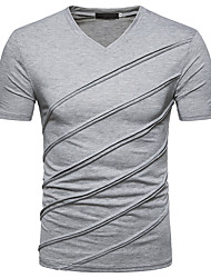 cheap -Men's Street chic T-shirt V Neck
